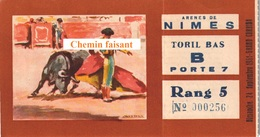 Billet De Corrida Du  24/09/1961 Arènes De NIMES 30  - Scans Recto-verso - Tickets D'entrée