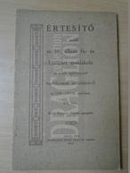 DC35.5  Értesítő  Az Aradi M.kir. áll. Fa és Fémipari Iskola 1910-11 Tanév -Aladár Nesnera  Arad 1911 Réthy Lipót - Books, Magazines, Comics