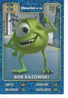 Carte Disney Pixar Auchan 2015  N° 20 Monstres Et Cie BOB RAZOWSKI - Disney