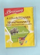 Magnet Carte Afrique Le Rhinocéros Collection Brossard - Animals & Fauna