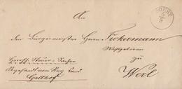 Preussen Brief K1 Soest 5.9. Gel. Nach Werl - Preussen