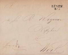 Preussen Brief L2 Lünen 8.5. Gel. Nach Werl - Preussen