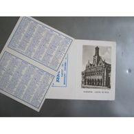 Calendrier 12 X 9 Cm : 1961 - St Quentin, Hôtel De Ville - Calendriers