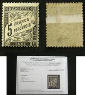 N° TAXE 24 5F Noir B Aspect TB Neuf N* Cote 4000€ Signé Calves + Certificat - 1859-1955 Nuevos