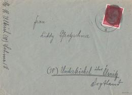Sächsische Schwärzung Brief EF Minr.AP788 Sehma Geprüft - Sowjetische Zone (SBZ)