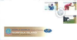 NORFOLK ISLAND - FDC - 23.11.2010 - WORLD BOWLS  - Yv 1032-1034 - Lot 17589 - Ile Norfolk