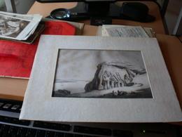 Engraving Egyptian 1853  Abu Simbel - Historical Documents
