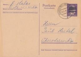 Schwärzung Ganzsache Minr.P302A Niederoderwitz 5.6.45 - Sowjetische Zone (SBZ)