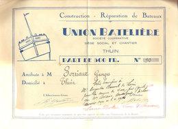 Thuin Union Batelière  1930 - Bateaux