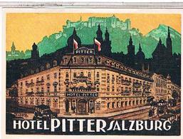 HOTEL  PITTER  SALZBURG                               SS590 - Hotel Labels