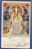 CPA Lessieux Louis Art Nouveau Femme Girl Women Circulé - Lessieux