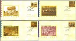 GOLD FEVER IN AUSTRALIA - LA FIEBRE DEL ORO EN AUSTRALIA. Set 4 Covers. Ballarat 1990 - Minerales