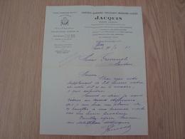 LETTRE MAISON JACQUIN DRAGEES BONBONS CHOCOLATS PARIS 1933 - Banque & Assurance