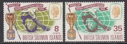 British Solomon Islands 1966 - Football World Cup In England  - Mi 154-155 ** MNH - Iles Salomon (...-1978)
