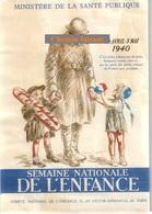 Vignette 1940 SEMAINE NATIONALE DE L'ENFANCE - Format 145 X 100 Mm - Scans Recto-verso - Erinnophilie