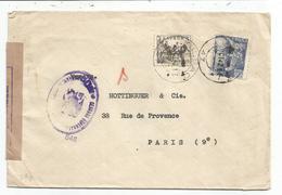 ESPANA 5C+70C LETTRE COVER BILBAO 1942 POUR FRANCE CENSURA - Covers & Documents