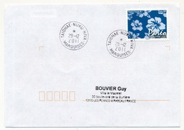 "POLYNESIE FRANCAISE - Enveloppe Affr. Pareo Oblitérée "" TAIOHAE - NUKU - HIVA / MARQUISES"" 29-12-2011 - Lettres & Documents"