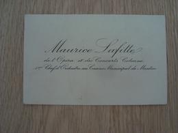 CARTE DE VISITE MAURICE LAFITTE  1er CHEF D'ORCHESTRE DE MENTON - Cartes De Visite