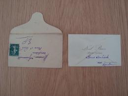 CARTE DE VISITE + ENVELOPPE NOËL BASS ARTISTE LYRIQUE - Cartes De Visite