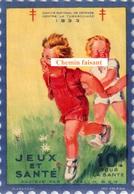1933 Vignette + Pochette JEUX & SANTE - Comité Défense Contre La Tuberculose - Format 105 X 152 Mm - Scans Recto-verso - Erinnofilia