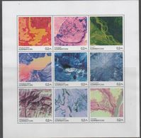AZERBAIJAN, 2018, MNH,VIEWS FROM SPACE, EARTH FROM SPACE,  SHEETLET - Geology