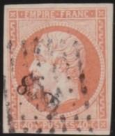France   .    Yvert  .     16        .      O   .      Oblitéré - 1853-1860 Napoléon III