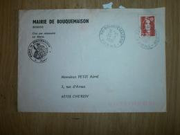 Enveloppe Mairie De BOUQUEMAISON 1991 - France