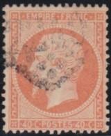 France   .    Yvert  .       23      .      O   .      Oblitéré - 1862 Napoleone III