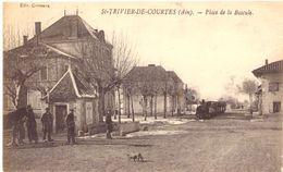St Trivier De Courtes Place De La Bascule (avec Tramway De L'Ain) - Francia