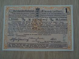 BILLET DE LOTERIE DANOIS - Lottery Tickets