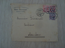 ENVELOPPE CONFISERIE PAUL ERISMANN CAROUGE GENEVE 1896 - Switzerland