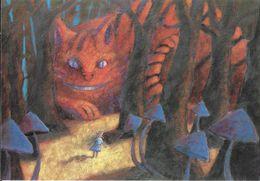 ART PEINTURE PEINTRE EXPOSITION ALICE AU PAYS DES MERVEILLES LEWIS CARROLL BIBLIOTHEQUE SAINT DENIS CHAT - Peintures & Tableaux