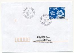 "POLYNESIE FRANCAISE - Enveloppe Affr. Pareo Oblitérée "" VAITAHU - TAHUATA / MARQUISES"" 30-12-2011 - Lettres & Documents"