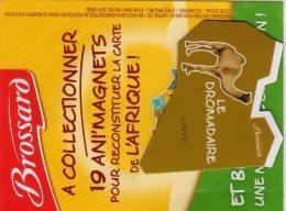 MAGNETS  PUBLICITEE   BROSSARD  SAVANE   ANIMAL D'AFRIQUE   LE DROMADAIRE - Animals & Fauna