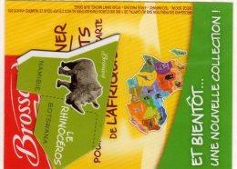 MAGNETS   PUBLICITEE   BROSSARD  SAVANE   ANIMAL D'AFRIQUE   LE RHINOCEROS - Animals & Fauna