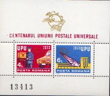 Romania MNH Perforated And Imperforated SSs - U.P.U.