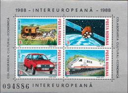 Romania MNH Sheetlet Pairs - Transport