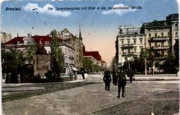 Breslau - Der Tauentzienplatz Mit Blick Auf Die Schweidnitzer Straße * Feldpost 11. 8. 1916 - Polen