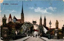 Breslau - Dombrücke * Feldpost 5. 1. 1917 - Polen