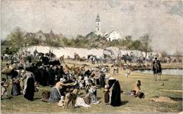 Die Kinder Von Bunzlau Bringen Den Gefangenen Lebensmittel - Künstlerkarte 3/117 - Polen