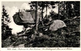 Wilde Löcher - Bukowina Bei Bad Kudowa - Der überliegende Stein Vor Dem Absturz (7758) - Polen
