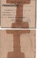 Octobre 1940. Permission Du 518e Groupement De Travailleurs Espagnols Du Camp De Casseneuil Lot-et-Garonne (2 Scannes) - Documents Historiques