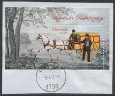 ÖSTERREICH / ANK 3252 / Block 94 / Historische Postfahrzeuge / Briefpost Cariolwagen / Gestempelt Auf Briefstück - 1945-.... 2. Republik