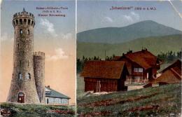 """Glatzer Schneeberg Mit Kaiser-Wilhelm Turm - """"Schweizerei"""" - 2 Bilder * 12. 7. 1917 - Polen"""