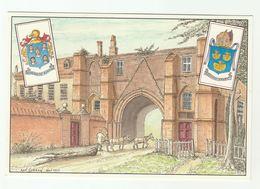 2000 Postcard By Reading Cigarette Card & Postcard Club Commemorate Millennium Club Fair Reading Abbey Heraldic Arms - Reading