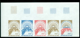 Mali 386 Trial Color Proof Strip/5, Sun Rising Over Africa, Neuf** Sans Charniere, Mint NH Scott 385 - Mali (1959-...)