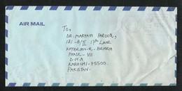 Saudi Arabia Meter Mark Air Mail Postal Used Cover Jeddah To Pakistan - Saudi Arabia