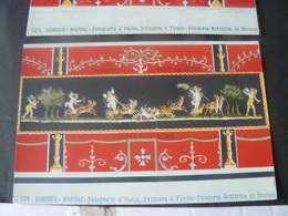 """3 ANCIENTS BEAUTIFULS  NEWS POSTCARDS OF POMPEI """" HOUSE OF VETTII """" / 3 ANTICHE CARTOLINE N° 124- 125 - 126 - Pompei"""