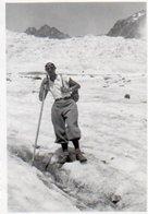 86Mrn  05 Photo Originale N°4 Les Claviéres Alpinisme Crevasse En 1932 - Other Municipalities