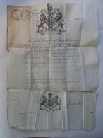 Passeport Passport, Reisepass, United Kingdom, 1871, En Etui Cuir, Visa Français - Historical Documents